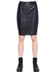 Blk Dnm Skirt 24 In Leather