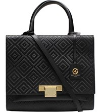 Kurt Geiger Annie Woven Leather Tote Black