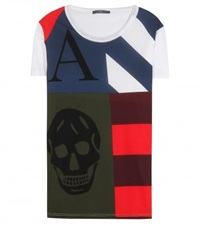 Alexander Mcqueen Printed Cotton T Shirt Multicoloured