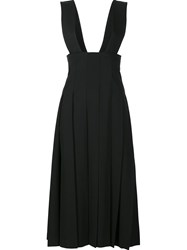 Comme Des Garcons Pleated Dungaree Skirt Black