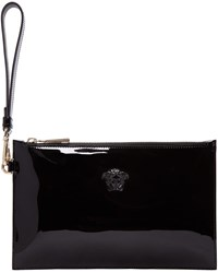 Versace Black Patent Small Medusa Pouch