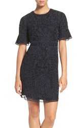 Needle And Thread Women's Beaded A Line Dress Black Silver
