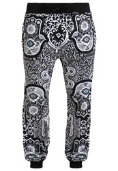 Jaded London Evil Eye Tracksuit Bottoms White Black