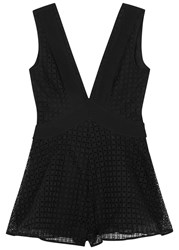 Finders Keepers Begin Black Lattice Effect Playsuit
