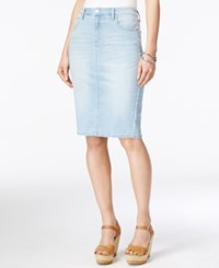 Calvin Klein Jeans Faded Sky Wash Pencil Skirt