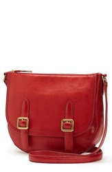 Frye Claude Leather Crossbody Bag Red