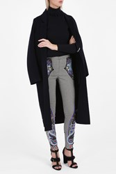 Mary Katrantzou Tweed Embroidered Trousers Grey