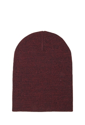 Forever 21 Stretch Knit Ribbed Beanie Red Black