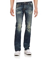 Cult Of Individuality Greaser Slim Straight Jeans Blue
