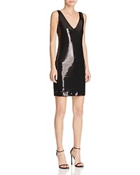 Aqua X Maddie And Tae Sequin Double V Dress 100 Bloomingdale's Exclusive Black