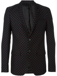 Givenchy Pattern Print Blazer Black