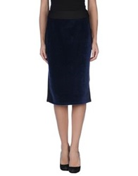 Darling Knee Length Skirts Blue