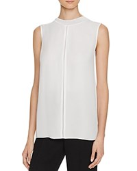 Vince Sleeveless Silk Top Chalk