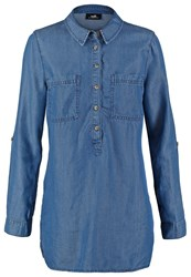 Wallis Blouse Blue Denim