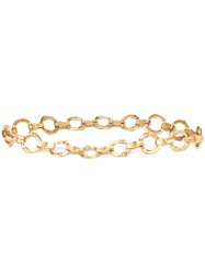 Yves Saint Laurent Vintage Bamboo Chain Link Belt Metallic