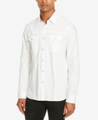 Kenneth Cole Reaction Men's Daimler Long Sleeve Shirt White