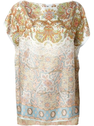 Pierre Louis Mascia Floral Paisley Print Top Multicolour