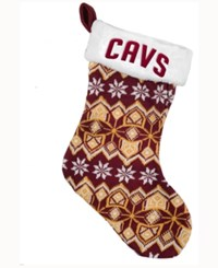 Forever Collectibles Cleveland Cavaliers Ugly Sweater Knit Team Stocking Maroon