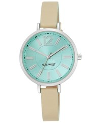 Nine West Women's Natural Leather Strap Watch 35Mm Nw 1861Mtmt