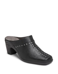 Aerosoles Apple Sawce Studded Mules Black