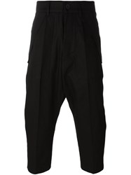 Rick Owens Cargo Trousers Cropped Black