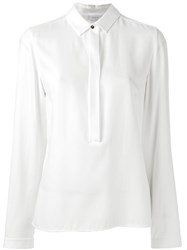 Akris Punto Hidden Fly Blouse White