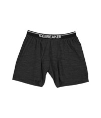 Icebreaker Anatomica Relaxed Boxers W Fly Jet Heather Black Men's Underwear