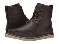 Toms Searcher Boot Chocolate Brown Full Grain Leather Men's Lace Up Boots