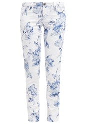 Guess Beverly Skinny Trousers White Light Blue