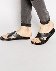 Tommy Hilfiger Timsbury Cross Over Sandals Black