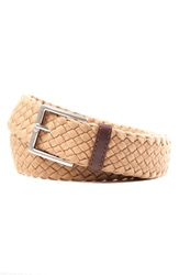 Tommy Bahama Braided Cotton Belt Khaki