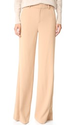 Alice Olivia Paula Slim High Waisted Pants Camel