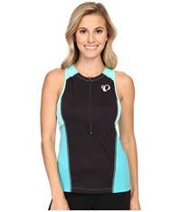 Pearl Izumi Select Pursuit Tri Sleeveless Jersey Black Aqua Mint Women's Sleeveless