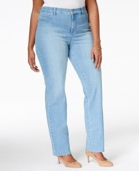 Styleandco. Style And Co. Plus Size Tummy Control Straight Leg Jeans Placid