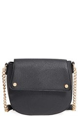 Bp. Faux Leather Saddle Flap Crossbody Bag