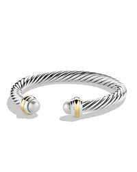 Cable Classics Bracelet With Pearls And Gold David Yurman