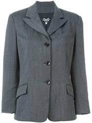 Dolce And Gabbana Vintage Fitted Jacket Grey