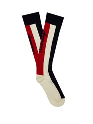 Fusalp Striped Compression Ski Socks Red Multi
