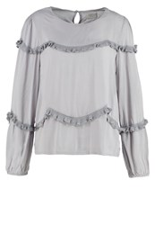 Cream Aura Blouse Drizzle Grey