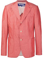 Comme Des Garcons Junya Watanabe Gara Ons Man Notched Lapel Blazer Red