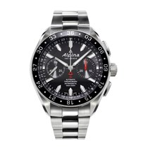 Alpina Chronograph Automatic Stainless Steel Watch Unisex Black