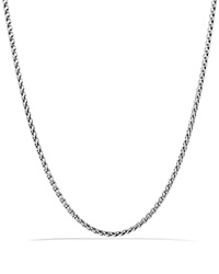 David Yurman Small Wheat Chain Necklace 22 Silver