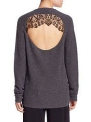 A.L.C. Peter Wool And Cashmere Cutout Sweater Flannel Black