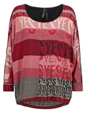 Desigual Long Sleeved Top Granate Oscuro Red