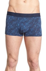 Boss Men's Micro Print Stretch Boxer Briefs Navy
