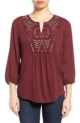 Caslonr Women's Caslon Embroidered Peasant Top
