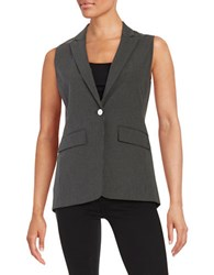 Marc New York Striped One Button Vest Black Light Grey