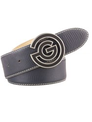 Galvin Green Wesley Leather Belt Grey