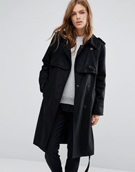 Ymc Stormflaps Classic Trench Coat Black