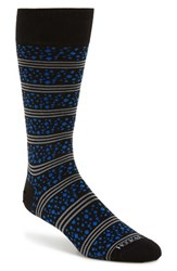 Men's Hook Albert Pebble Dot And Stripe Socks